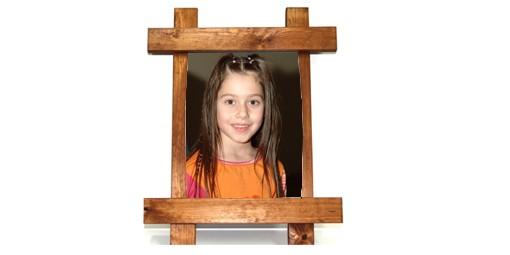 תמונה על מתכת עם מסגרת עץ + הדפסה על המוצר