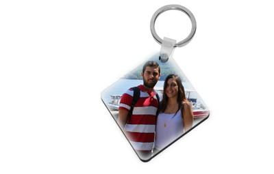 מחזיק מפתחות דו צדדי פלסטיק + הדפסה על המוצר