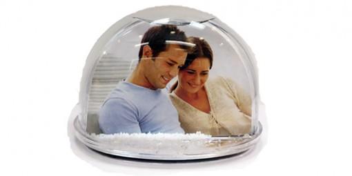 כדור שלג / לבבות + הדפסת תמונה