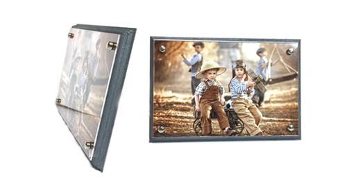 תמונה בתוך פרספקס על עץ + הדפסת התמונה