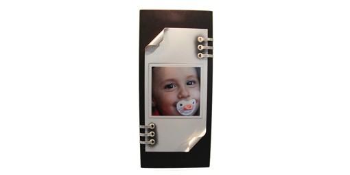 מגן רצועות מלבני מעץ ופלטת אלומיניום + הדפסה על המוצר