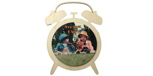 שעון בצורת שעון + הדפסה על המוצר