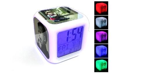 שעון מעורר מחליף צבעים + הדפסה על המוצר