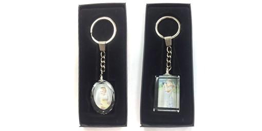 מחזיק מפתחות זכוכית + הדפסה על המוצר