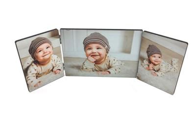 תמונה על עץ שלישייה + הדפסה על המוצר